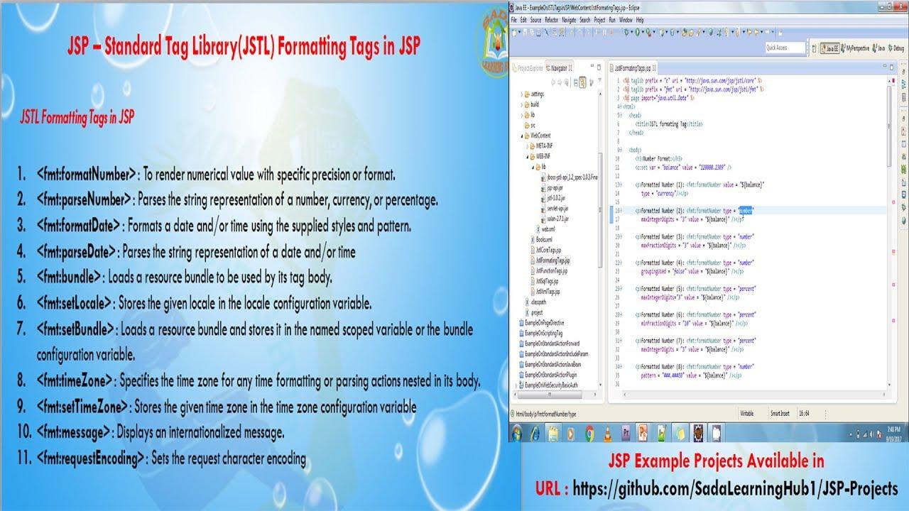 Lesson - 24 : JSP - JSTL Formatting Tags in JSP
