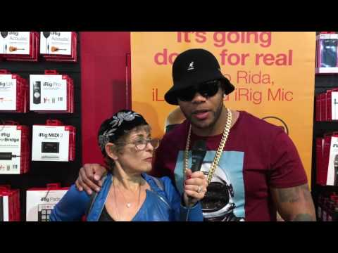 Interview with Flo Rida CES 2016- IK Multimedia