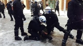 RAW: Students protest in downtown Montreal