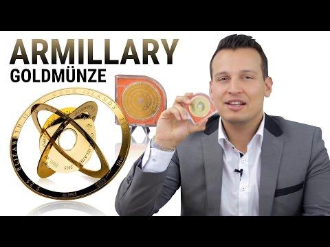 GOLD - Fantastische ARMILLARY Goldmünze - 1 Unze Goldmünzen von den Cook Islands - Für Sammler