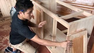 Làm tủ bếp thùng dưới  ( How to make barrels under kitchen cabinets)