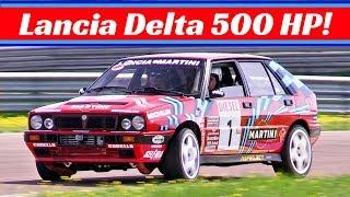 500hp Lancia Delta Integrale 16v - Action + Multicam OnBoard - Massive Power & Turbo Sound!