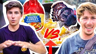 WILD TURKEY vs STORE BOUGHT Challenge! (CATCH CLEAN COOK)