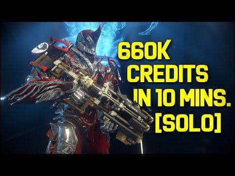 Warframe Solo Credit Farming: 660K Credits In 10 Minutes