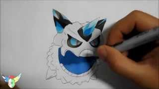 Copic speed draw Mega Glalie メガオニゴーリ
