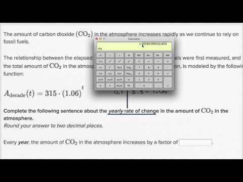 Interpreting change in exponential models: changing units | High School Math | Khan Academy