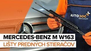 Ako vymeniť lišty predných stieračov na MERCEDES-BENZ M W163 [NÁVOD]