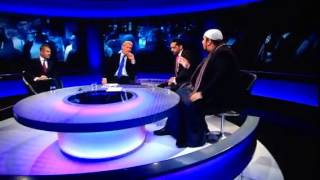 A lively newsnight Jeremy paxman is lost for words .