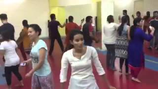 Youths practicing selfie style garba on Hindi film song