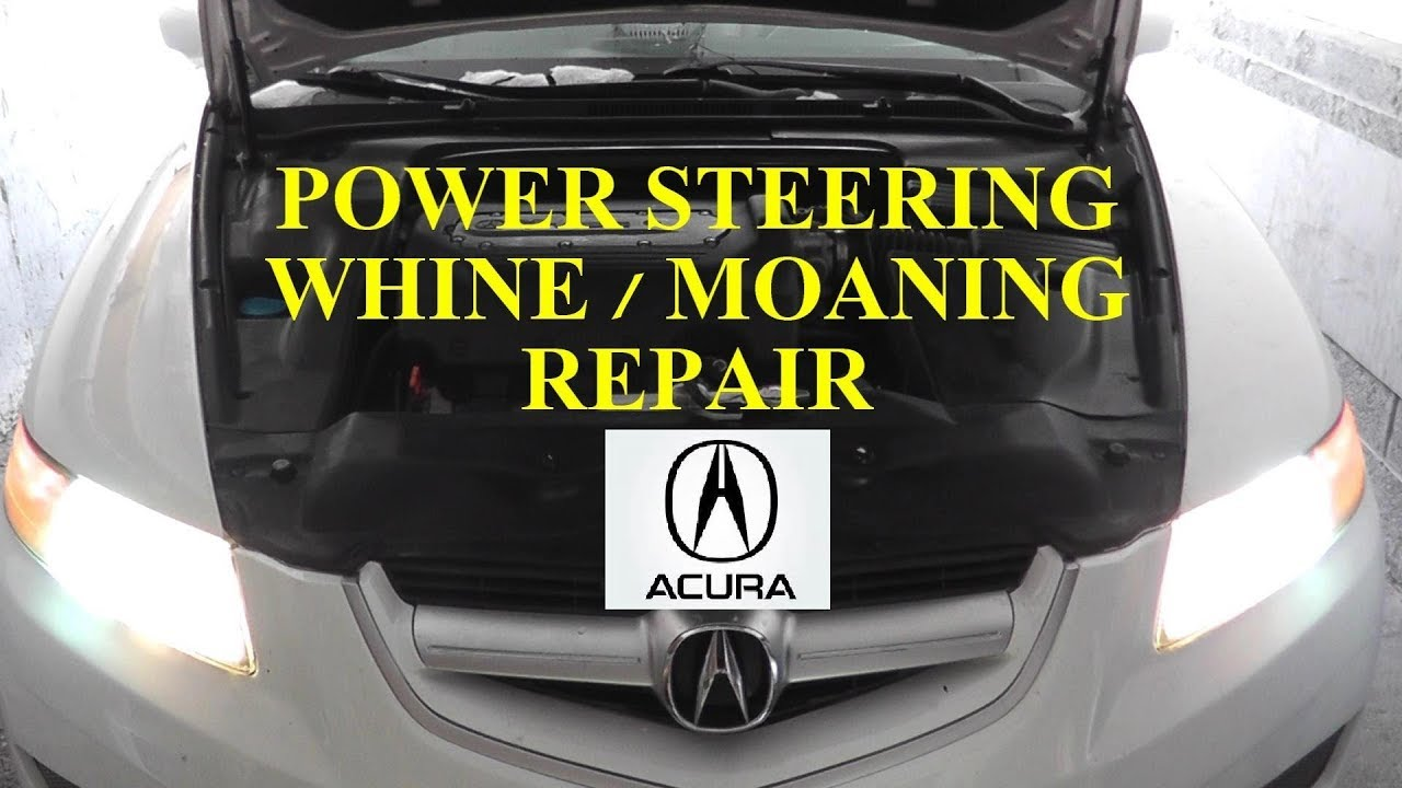acura tl power steering pump noisy whining moaning fix hd youtube