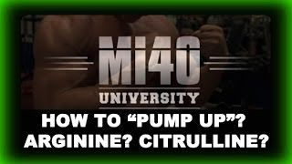 Muscle Building Workout PUMP, How Do Bodybuilders Pump Up Muscles? Arginine? Citrulline?