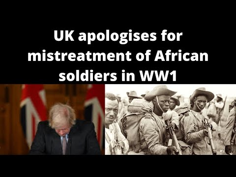 UK apologises for mistreatment of African and Asian soldiers in WW1