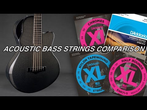 Acoustic Bass - Strings Comparison (Emerald Guitars)