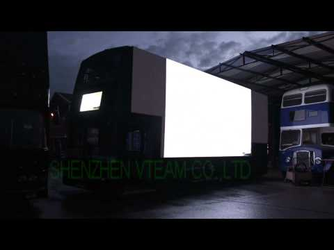 Flexible led curtain display Flxi-P55 for the bus advertising in UK