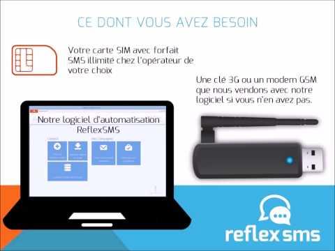 Logiciel ReflexSMS - Envoyez vos SMS en masse gratuitement