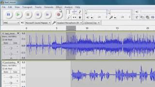 Getting started with Audacity: Mixing multiple tracks