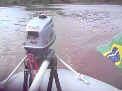 Intex Seahawk II + Mariner 4HP - 22Km/h .wmv