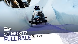 St. Moritz | BMW IBSF World Cup 2019/2020 - 2-Man Bobsleigh Heat 1 | IBSF Official