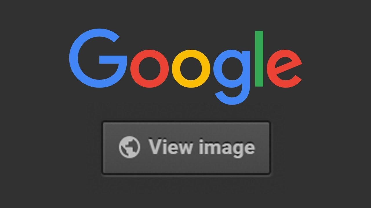 how to restore the view image button on google image