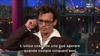 Johnny Depp ospite al David Letterman show 2013 (Sub ita)
