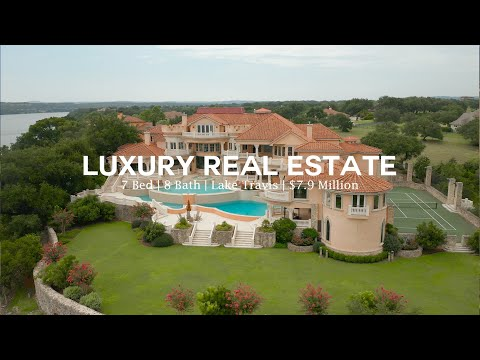 $7,900,000 BEAUTIFUL Mansion Overlooking Lake Travis | Austin, Texas