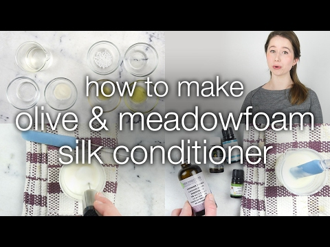 How to Make Olive Meadowfoam Silk Hair Conditioner