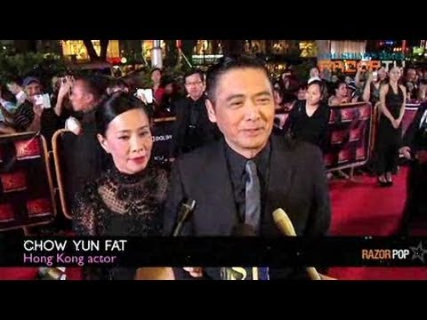 Warmest welcome for Chow Yun Fat (ScreenSingapore 2012 Red Carpet Pt 1)