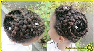 Прическа для девочки из трехпрядной косы