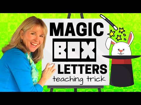 Teaching with MAGIC BOX LETTERS - lesson starter children love (CRAFT for KIDS)