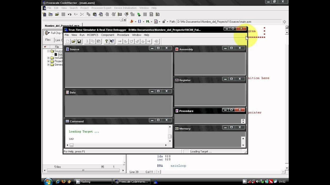 Freescale CodeWarrior IDE Absolute assembly