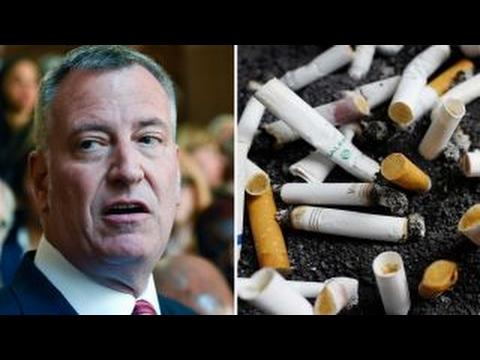 De Blasio wants to make NYC most expensive US city to smoke