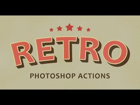 How To Use Free Retro Effects Photoshop Actions