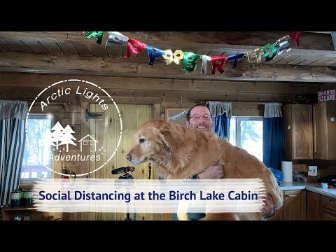 Social Distancing At The Birch Lake Cabin