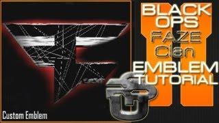 FaZe Clan Logo EPIC : Call Of Duty Black Ops 2 Emblem Tutorial