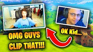 This 10 Year Old Player Is INSANE At Fortnite (He killed Myth) | Fortnite Battle Royale