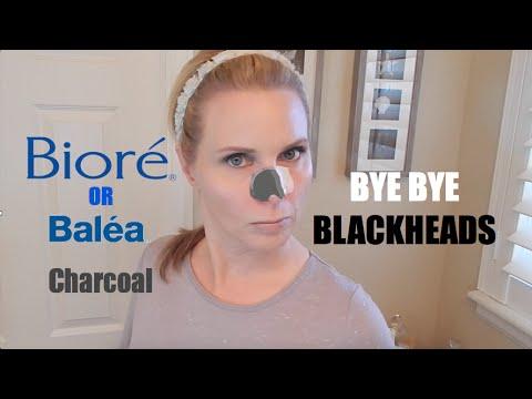 GET RID OF BLACKHEADS - Biore VS Charcoal Pore Strips Review