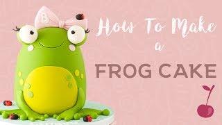 Cute Frog Cake Tutorial | How To | Cherry School