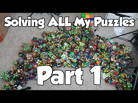 solving all of my puzzles eating pizza part 1 youtube