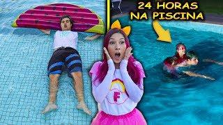 DESAFIO 24 HORAS NA PISCINA COM BIANKINHA ( CONSEGUIMOS ? ) | Família Maloucos