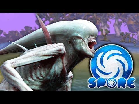 YES!! MOVIE PERFECT NEOMORPH & FACEHUGGER! EMPEROR LEVIATHANS! - Spore Gameplay