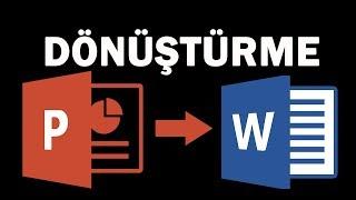 PowerPoint Belgesini Word Belgesine Dönüştürme