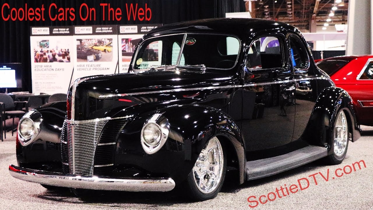 1940 ford alloways hot rod shop pro auto custom interiors the sema show 2017 youtube. Black Bedroom Furniture Sets. Home Design Ideas