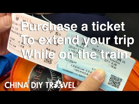 Purchase a ticket to extend your trip while on the train