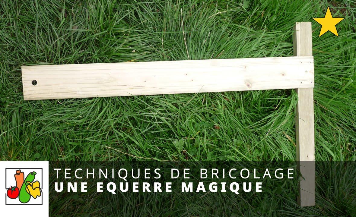 Une querre magique pour fabriquer vos carr s de potager youtube - Fabriquer equerre en bois ...