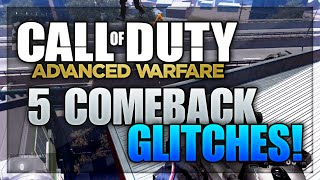 Advanced Warfare: 5 Comeback Glitches, Jumps & Spots! (Top Of The Map, Secret Rooms, & More)