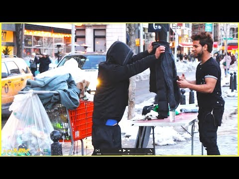 Asking STRANGERS for Jacket VS Asking HOMELESS for Jacket Experiment (SOCIAL EXPERIMENT)