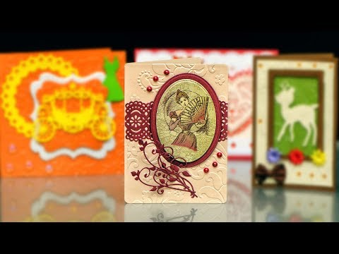 DIY handmade card for a Lady | Beautiful Card With Embossing Folder|