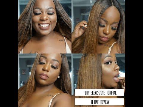 DIY Bleach/Dye Tutorial and Hair Review   Beauty