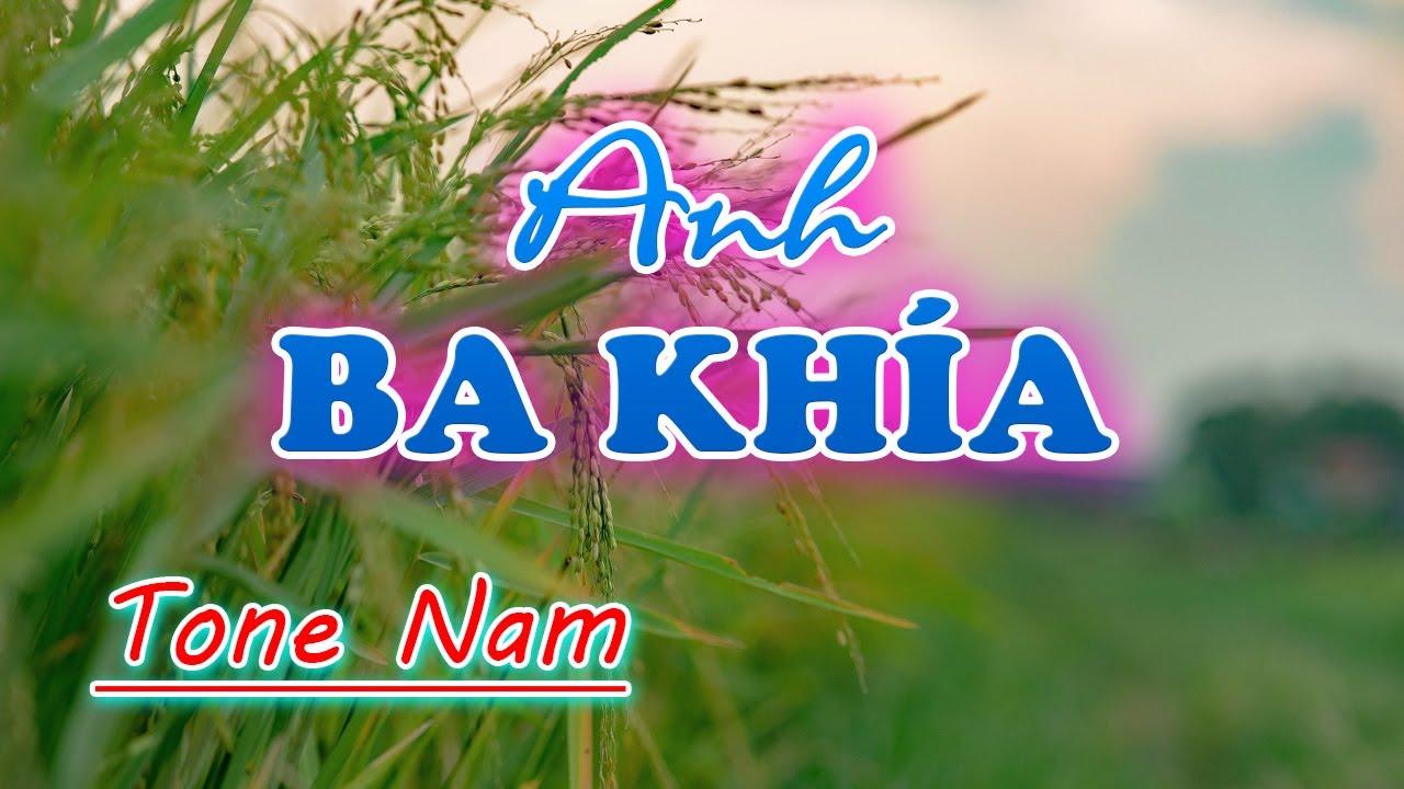 Anh Ba Khía Karaoke Nhạc Sống   Tone Nam (Gm)