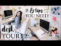 DESK TOUR 2018 & PRODUCTIVITY TIPS THAT WORK! | Alexandra Beuter